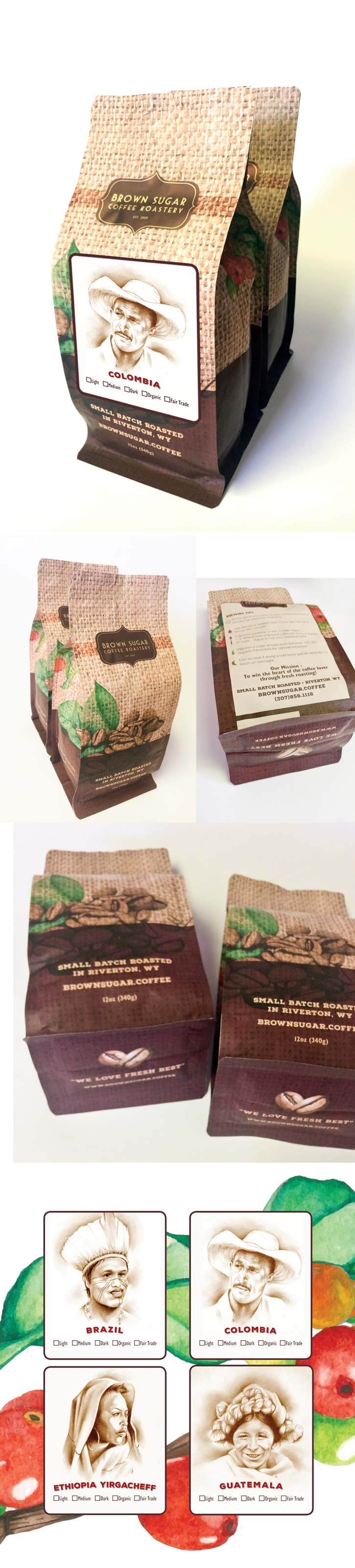 Brown Sugar Coffee bag design